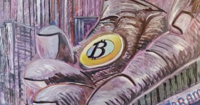Художник продает картины за биткоин